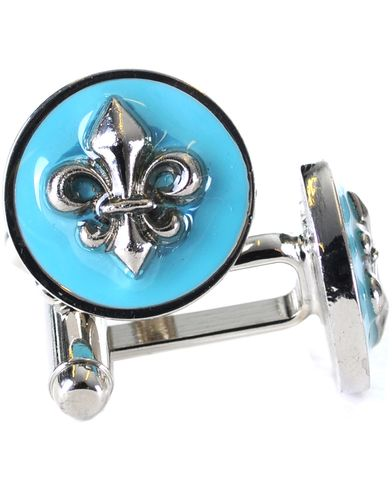 Morris Cuff Link Lilly Turquoise  i gruppen Accessoarer / Manschettknappar hos Care of Carl AB (10097210)