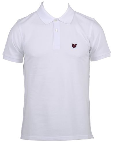 Lyle & Scott Short Sleeve Polo Shirt White i gruppen Pik� hos Care of Carl (10181111r)