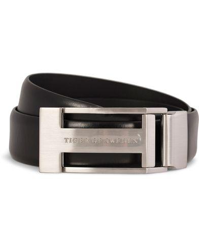 Tiger of Sweden Christian Leather Buckle Belt 3,5 cm Black i gruppen Accessoarer / B�lten hos Care of Carl AB (10214011r)