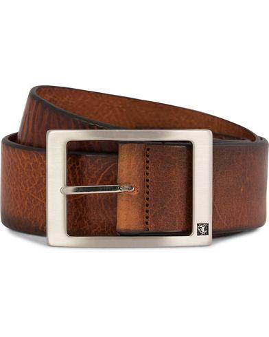 Tiger of Sweden Marvin Leather Jeans Belt 4,5 cm Light Brown i gruppen Accessoarer / B�lten hos Care of Carl AB (10215011r)
