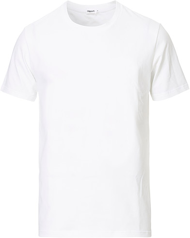 Filippa K Soft Lycra Tee White i gruppen T-Shirts hos Care of Carl AB (10225611r)