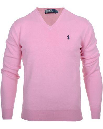 Polo Ralph Lauren Pima Cotton V-Neck Pink i gruppen Tr�jor / Pullover / Pullover V-ringad hos Care of Carl AB (10339311r)