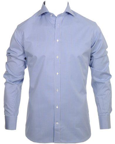 Stenstr�ms Skjorta Slimline Small Check Blue i gruppen Skjortor / Businesskjortor hos Care of Carl AB (10340611r)