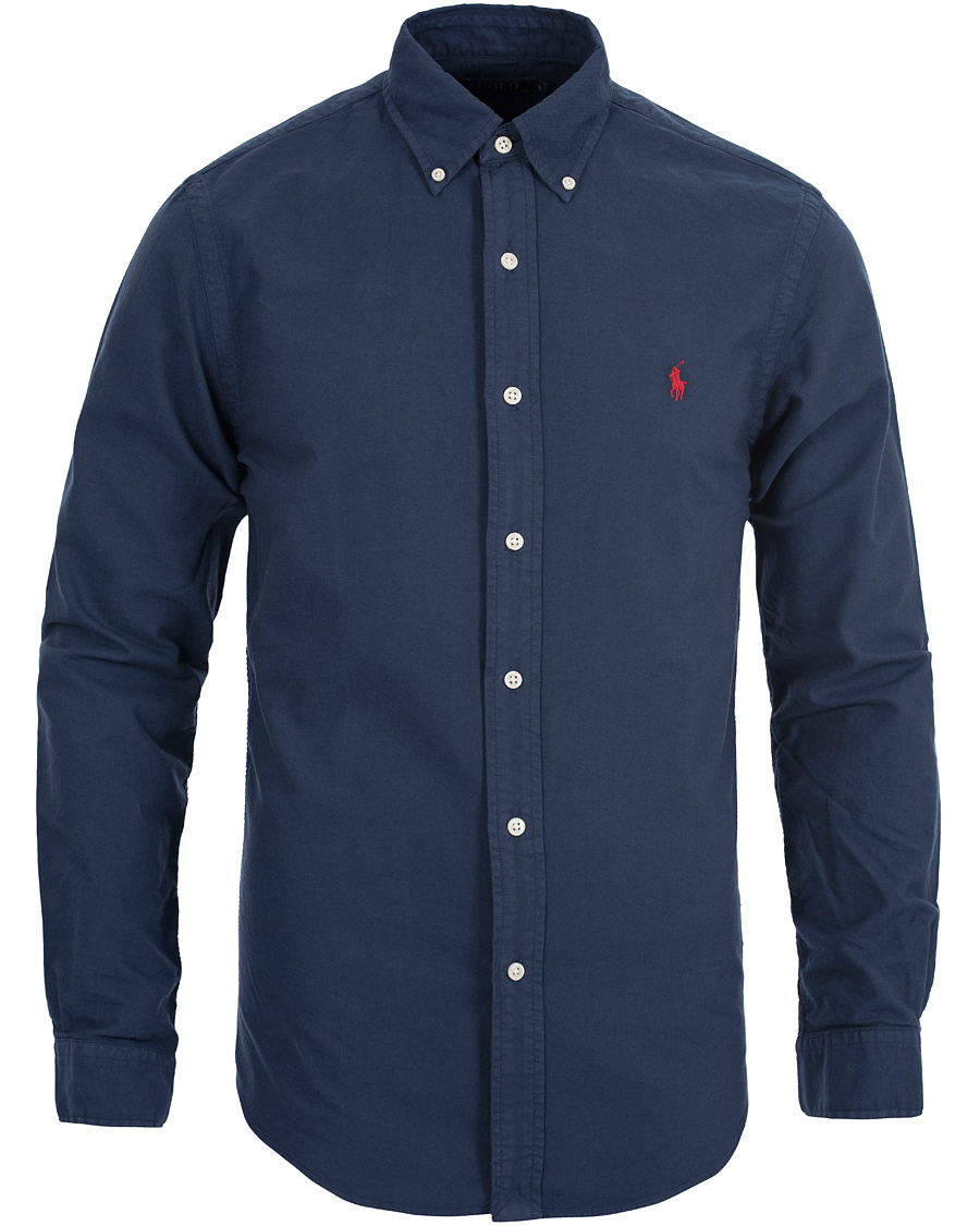 polo ralph lauren slim fit oxford shirt newport navy hos careofca. Black Bedroom Furniture Sets. Home Design Ideas