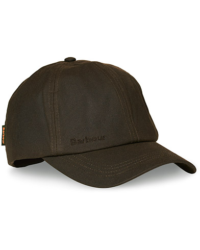 Barbour Lifestyle Wax Sports Cap Olive Olive One Size i gruppen Tilbehør / Kasketter / Baseball caps hos Care of Carl (10005710)