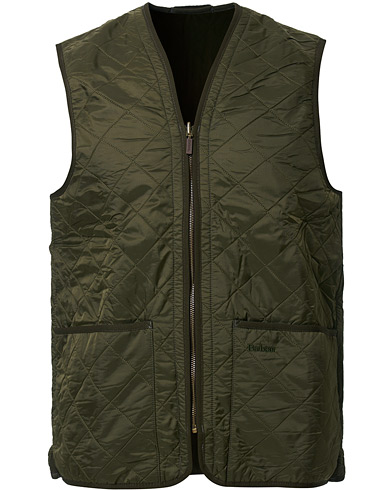 Barbour Lifestyle Quilt Waistcoat / Zip-In Liner Olive i gruppen Design A / Jakker / Yderveste hos Care of Carl (10006311r)