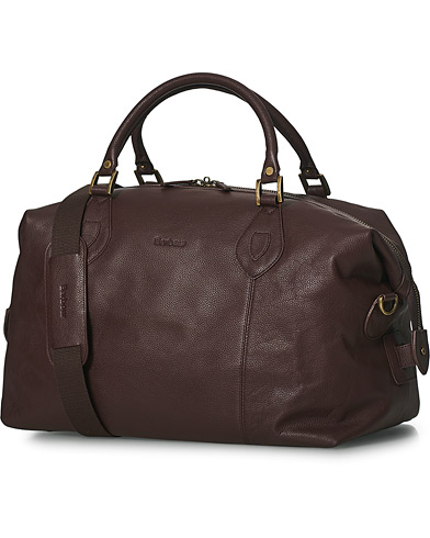 Barbour Lifestyle Leather Medium Travel Explorer Brown  i gruppen Tasker / Weekendtasker hos Care of Carl (10050310)