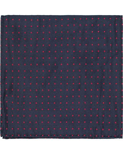 A Christensen Handkerchief Dot Navy/Red  i gruppen Assesoarer / Lommet�rkl�r hos Care of Carl (10095910)
