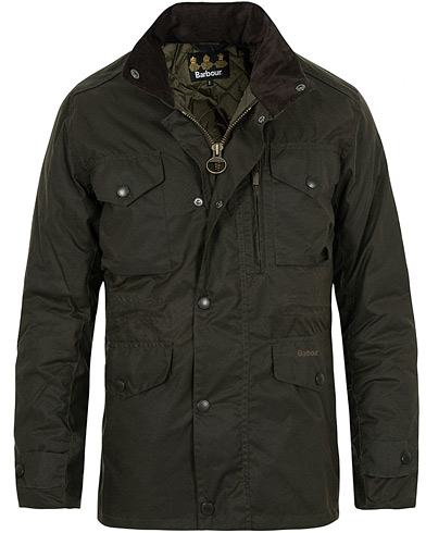 Barbour Lifestyle Sapper Jacket Olive i gruppen Jackor / Vaxade jackor hos Care of Carl (10172811r)