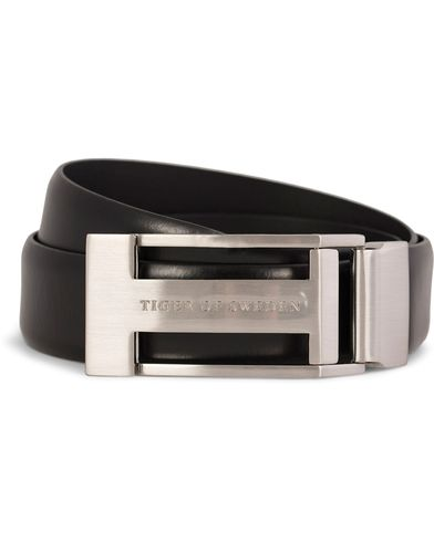 Tiger of Sweden Christian Leather Buckle Belt 3,5 cm Black i gruppen Accessoarer / B�lten hos Care of Carl (10214011r)