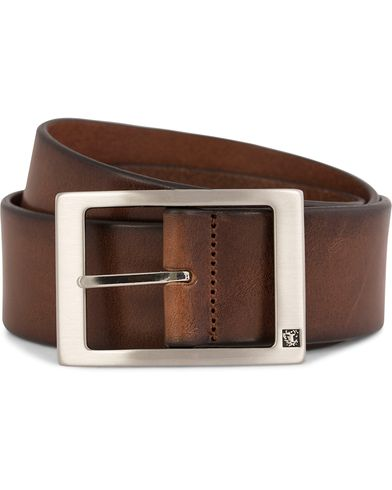Tiger of Sweden Marvin Leather Jeans Belt 4,5 cm Brown i gruppen Accessoarer / Bälten hos Care of Carl (10214911r)