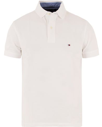 Tommy Hilfiger New Knit Piké White i gruppen Pikéer / Kortermet piké hos Care of Carl (10218211r)