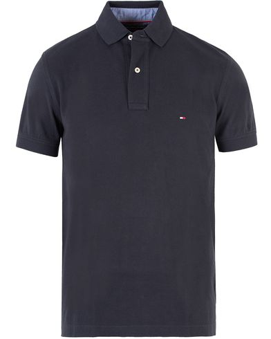 Tommy Hilfiger New Knit Piké Midnight i gruppen Kläder / Pikéer / Kortärmade pikéer hos Care of Carl (10218311r)