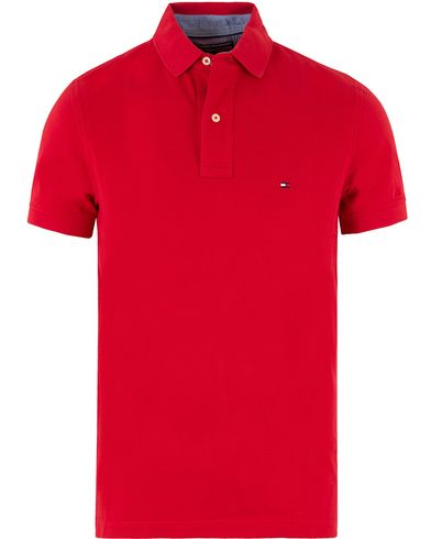Tommy Hilfiger New Knit Piké Summer Red i gruppen Polotrøjer / Kortærmede polotrøjer hos Care of Carl (10218511r)