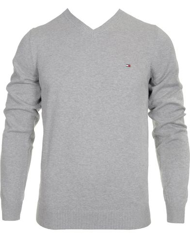 Tommy Hilfiger Pacific V-Neck Grey Heather i gruppen Tröjor / Pullovers / V-ringade pullovers hos Care of Carl (10218611r)