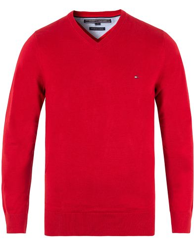 Tommy Hilfiger Pacific V-Neck Summer Red i gruppen Gensere / Pullover / Pullovers v-hals hos Care of Carl (10218911r)