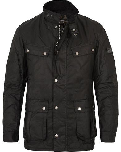 Barbour International Duke Jacket Black i gruppen Klær / Jakker / Voksede jakker hos Care of Carl (10223211r)