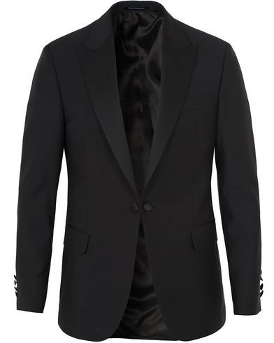 Oscar Jacobson Frampton Tuxedo Jacket Black i gruppen Kläder / Kavajer / Smokingkavajer hos Care of Carl (10234911r)