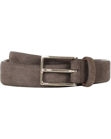 Oscar Jacobson Suede Belt 3 cm Dark Brown i gruppen Accessoarer / Bälten hos Care of Carl (10271511r)