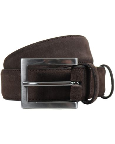 BOSS Suedonio Leather Belt Dark Brown i gruppen Accessoarer / Bälten hos Care of Carl (10286311r)