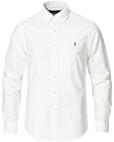 Polo Ralph Lauren Slim Fit Shirt Oxford White i gruppen Skjortor / Oxfordskjortor hos Care of Carl (10287811r)