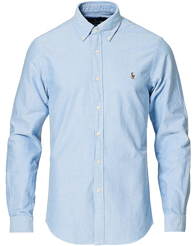 Polo Ralph Lauren Slim Fit Shirt Oxford Blue i gruppen Design A / Skjorter / Oxfordskjorter hos Care of Carl (10287911r)