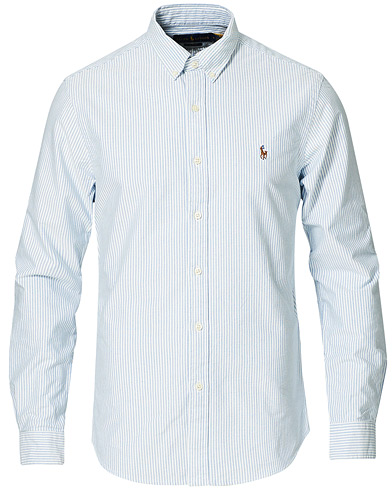 Polo Ralph Lauren Slim Fit Shirt Oxford Stripes Blue i gruppen Skjorter / Oxfordskjorter hos Care of Carl (10288011r)