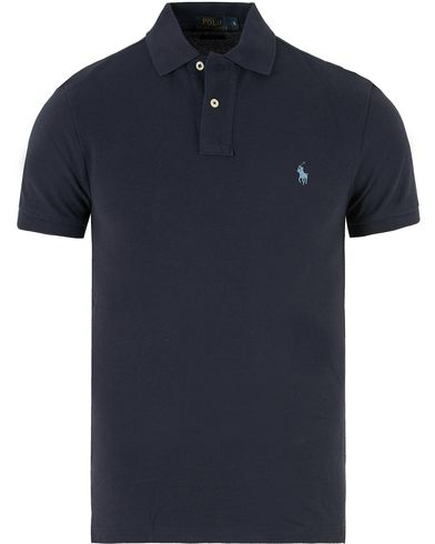 Polo Ralph Lauren Slim Fit Polo Newport Navy i gruppen Pikéer / Kortärmade pikéer hos Care of Carl (10288411r)
