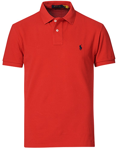 Polo Ralph Lauren Slim Fit Polo Red i gruppen Klær / Pikéer hos Care of Carl (10288611r)