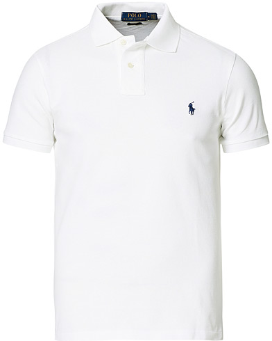 Polo Ralph Lauren Slim Fit Polo White i gruppen Klær / Pikéer hos Care of Carl (10288711r)