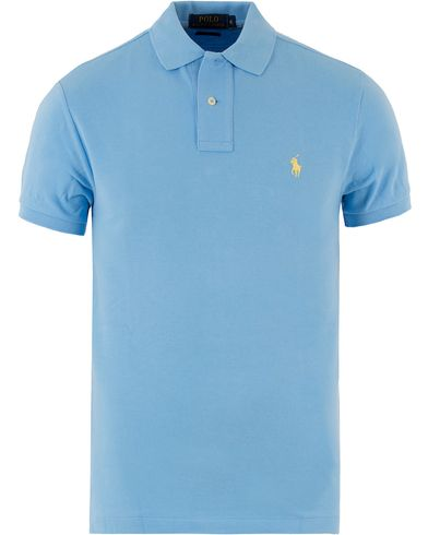 Polo Ralph Lauren Slim Fit Polo Catham Blue i gruppen Kläder / Pikéer / Kortärmade pikéer hos Care of Carl (10288811r)