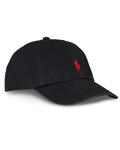 Polo Ralph Lauren Classic Sports Cap Black  i gruppen Design A / Assesoarer / Caps / Baseballcapser hos Care of Carl (10291110)