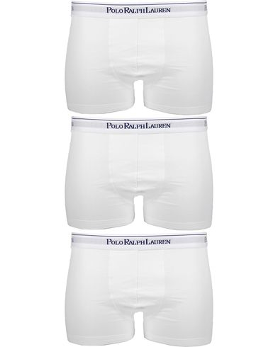 Polo Ralph Lauren 3-Pack Trunk White i gruppen Undertøj / Boxershorts / Korte boxershorts hos Care of Carl (10295911r)