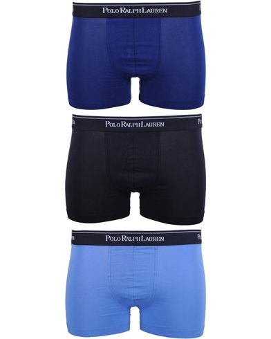 Polo Ralph Lauren 3-Pack Trunk Blue i gruppen Klær / Undertøy / Underbukser / Boksershorts hos Care of Carl (10296011r)