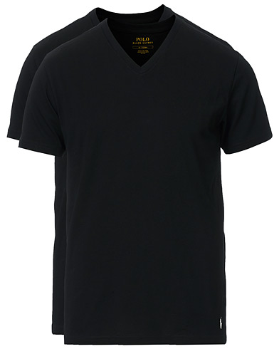 Polo Ralph Lauren 2-Pack T-Shirt V-Neck Black i gruppen T-Shirts / Kortermede t-shirts hos Care of Carl (10296111r)