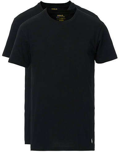 Polo Ralph Lauren 2-Pack T-Shirt Crew Neck Black i gruppen T-Shirts / Kortærmede t-shirts hos Care of Carl (10296311r)