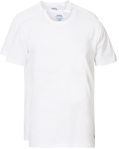 Polo Ralph Lauren 2-Pack T-Shirt Crew Neck White i gruppen T-Shirts / Kortärmade t-shirts hos Care of Carl (10296411r)