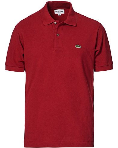 Lacoste Original Polo Piké Bordeaux i gruppen Tøj / Polotrøjer hos Care of Carl (10299011r)