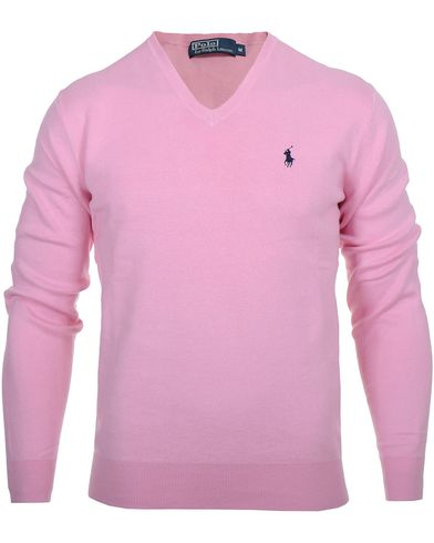 Polo Ralph Lauren Pima Cotton V-Neck Pink i gruppen Tröjor / Pullovers / V-ringade pullovers hos Care of Carl (10339311r)