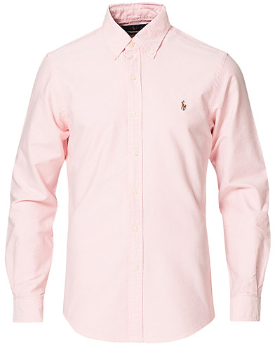 Polo Ralph Lauren Slim Fit Shirt Oxford Pink i gruppen Skjortor / Oxfordskjortor hos Care of Carl (10339511r)