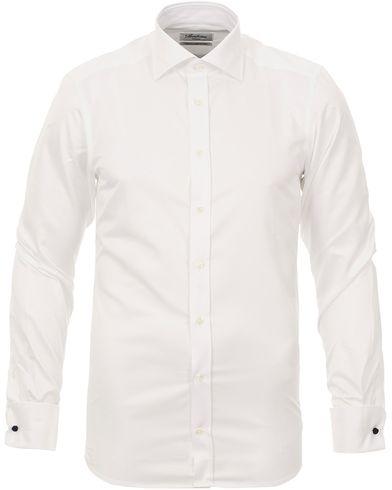 Stenströms Slimline Shirt Double Cuff White i gruppen Design A / Skjortor / Formella skjortor hos Care of Carl (10340711r)
