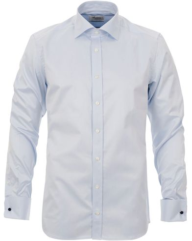 Stenströms Slimline Shirt Double Cuff Blue i gruppen Skjortor / Formella skjortor hos Care of Carl (10340811r)