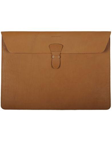 Sandqvist Ove Laptop Case 13'' Leather Tan Brown i gruppen V�skor hos Care of Carl (10344410)
