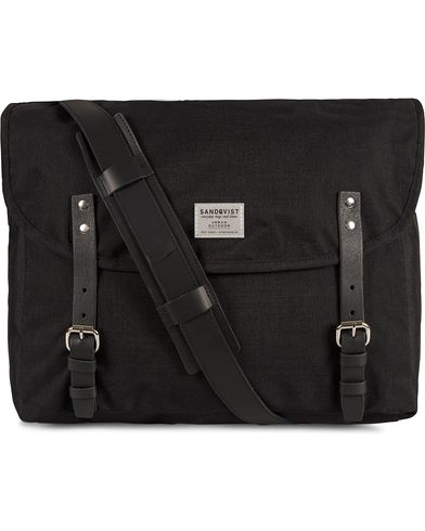 Sandqvist Erik Messenger Bag Cordura Black i gruppen Design A / Vesker / Skuldervesker hos Care of Carl (10344810)