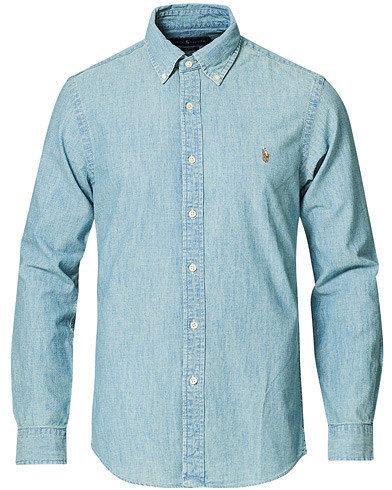 Polo Ralph Lauren Slim Fit Chambray Shirt Washed i gruppen Tøj / Skjorter / Casual / Denimskjorter hos Care of Carl (10349511r)