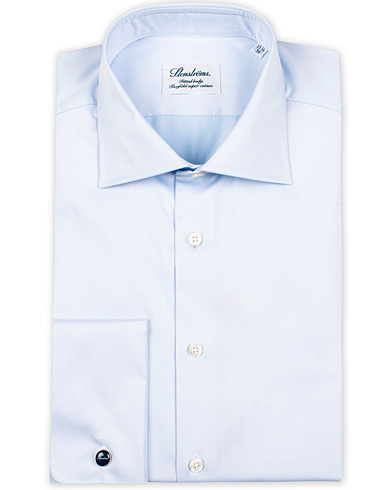Stenstr�ms Fitted Body Shirt Double Cuff Blue i gruppen Skjortor / Formella Skjortor hos Care of Carl (10355311r)