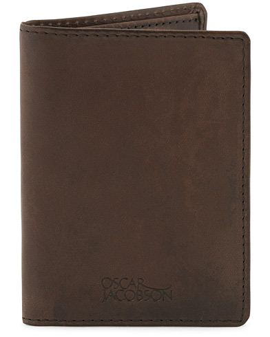 Oscar Jacobson Credit Card Wallet Dark Brown  i gruppen Accessoarer / Plånböcker / Vanliga plånböcker hos Care of Carl (10504410)