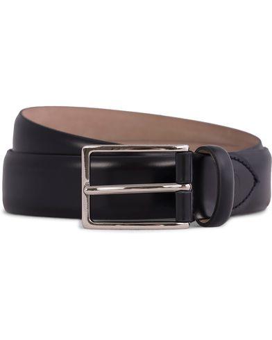 Oscar Jacobson Suit Belt 3 cm Black i gruppen Tilbehør / Bælter / Glatte bælter hos Care of Carl (10505611r)