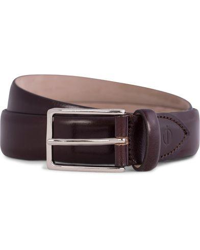 Oscar Jacobson Suit Belt 3 cm Chestnut i gruppen Tilbehør / Bælter / Blanke bælter hos Care of Carl (10505711r)
