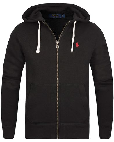 Polo Ralph Lauren Full Zip Hood Black i gruppen Klær / Gensere / Hettegensere hos Care of Carl (10507611r)